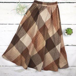 Vintage  Pea Pod High Waist Circle Skirt